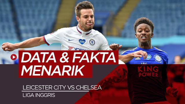 Berita video data dan fakta menarik jelang pertandingan Leicester City Vs Chelsea di pekan ke-19 Liga Inggris, Rabu dini hari (20/1/21)