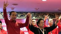 Jokowi dan Megawati Soekarnoputri. (Twitter/@pramonoanung)