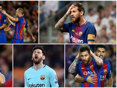 Berikut ini beragam wajah dan ekspresi dari bintang Barcelona saat mengalami kekecewaan yang mendalam. Salah satunya saat gagal menjadi juara La Liga