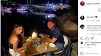 Kiper Italia Gianluigi Donnarumma makan malam bersama tunangannya Alessia Elefante. (foto: Instagram @gigiodonna99)