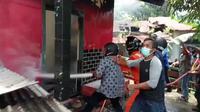 Bencana kebakaran di Balikpapan Kalimantan Timur.
