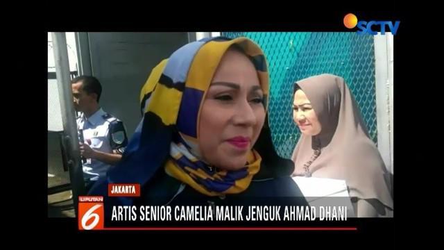 Senin (4/2), pedangdut Camelia Malik, kunjungi Ahmad Dhani di Lapas Cipinang. Saat menjenguk, artis senior tersebut bawakan donat kampung untuk Dhani.