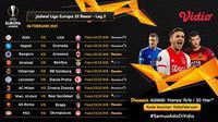 Pertandingan babak 32 besar Liga Europa 2020/2021 dapat disaksikan melalui platform streaming Vidio. (Dok. Vidio)