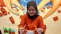 Satu porsi bakso kepiting di Palembang Kepiting Center resto dihargai Rp 40.000 hingga Rp65.000 per porsi (Liputan6.com / Nefri Inge)