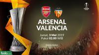 Liga Europa - Arsenal Vs Valencia (Bola.com/Adreanus Titus)