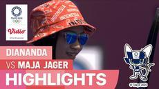 Berita video highlights panahan individu putri Olimpiade Tokyo, Diananda Chorunisa (INA) Vs Maja Jager (DEN)