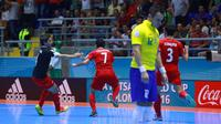 Iran menyingkirkan Brasil pada babak 16 besar Piala Dunia Futsal, Rabu (21/9/2016). (dok. FIFA)