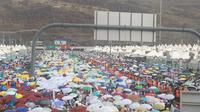 Hujan di Mina. Dok Kemenag