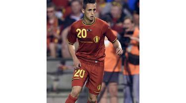 Adnan Januzaj, pemain berusia 19 tahun ini bermain di klub Manchester United sebagai pemain sayap (AFP PHOTO/John Thys)