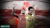 Timnas Indonesia vs Timnas Malaysia. (Bola.com/Dody Iryawan)