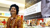 Andrea Hirata saat promo novel Ayah. Foto: Puput Puji Lestari/Bintang.com