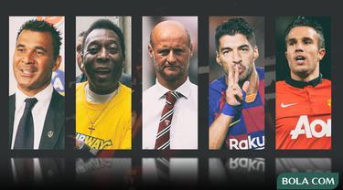 Kolase - Pemain Ruud Gullit, Pele, Lombardo, Suarez, Persie