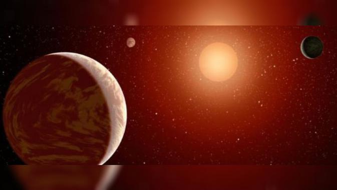 Bintang Katai Merah Tipe-M. Kredit: NASA JPL-Caltech