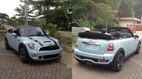 Mobil Mini Cooper S Cabriolet bekas Gisela Anastasia dan Gading Marten dijual di showroom mobil bekas Auto Point di jalan Yos Sudarso Kav 87-88 Bursa Otomotif Sunter, Jakarta. (Istimewa)