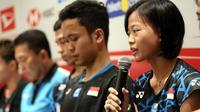 Atlet tunggal putri Indonesia, Fitriani, mengaku siap membalaskan dendamnya pada wakil Denmark, Line Hojmark Kjaersfeldt pada babak pertama Indonesia Masters 2019. (dok. PBSI)