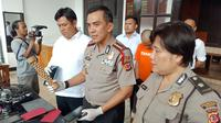 Kapolrestabes Bandung Kombes Pol. Irman Sugema merilis tindak pidana pencurian dengan kekerasan. (Huyogo Simbolon)