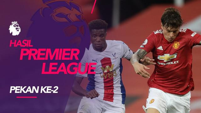 Berita motion grafis hasil Liga Inggris 19 dan 20 September 2020, Crystal Palace kalahkan Manchester United.
