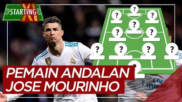 Berita motion grafis Starting XI pemain andalan Jose Mourinho, Cristiano Ronaldo salah Satunya.