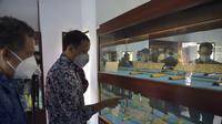 Mendikbud Nadiem Makarim mengunjungi kerja ke Museum Arkeologi Gedong Arca, Kabupaten Gianyar, Bali. (Istimewa)