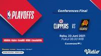 Jadwal dan Live Streaming NBA 2021 Conference Final di Vidio, Rabu 23 Juni. (Sumber : dok. vidio.com)