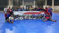 Para mahasiswa gelar kompetisi futsal anak bangsa untuk memperingati Hari Toleransi Internasional. (Foto: Liputan6.com/Dian Kurniawan)