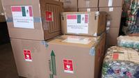 KBRI Mexico City salurkan bantuan dalam bentuk bahan pangan dan minuman yang diserahkan kepada Kementerian Luar Negeri Meksiko (Kemlu.go.id)