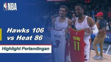 Trae Young mencetak angka 19 untuk memimpin Hawks meraih kemenangan atas Heat, 106-82.