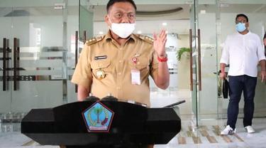 Gubernur Sulut Olly Dondokambey menerbitkan Pergub Nomor 8 Tahun 2020 tentang Optimalisasi Pencegahan Penyebaran Corona Virus Disease 2019.