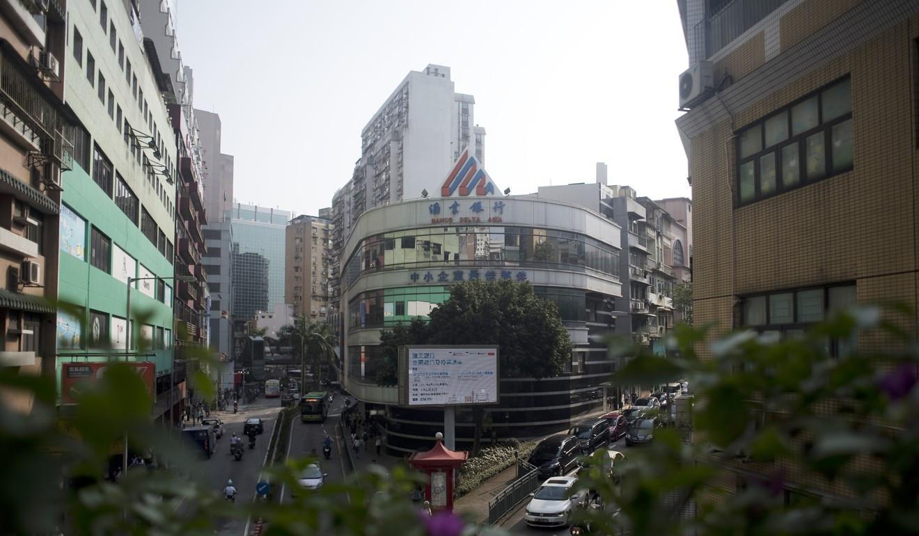 Bank Delta di Macau (Xiaomei Chen/AFP)