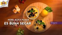 Menu Buka Puasa, Es Buah Segar. (Daniel Kampua/Bintang.com)