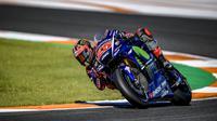 Pebalap Movistar Yamaha, Maverick Vinales, berharap turun hujan pada tes privat di Sirkuit Sepang yang akan berlangsung awal Desember 2017. (dok. Yamaha MotoGP)