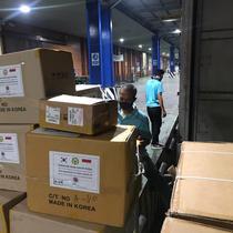 Bantuan dari Korsel ke Indonesia untuk lawan Virus Corona (COVID-19). Dok: Twitter @IDEmbassy_Seoul