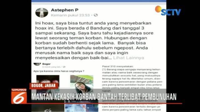 Polisi bantah telah tangkap pelaku penusukan siswa SMK di Bogor bernama Adriana Yubelia Noven.