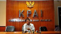 Komisioner Perlindungan Anak KPAI, Susanto, menegaskan KPAI fokus untuk menyelamatkan dan memulihan psikologis anak D pasca ditelantarkan oleh orangtuanya, Jakarta, Jumat (15/5/2015). (Liputan6.com/Yoppy Renato)