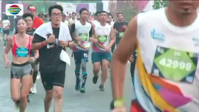 Untuk keamanan para pelari, penjagaan ketat dilakukan di sepanjang jalan yang dilalui seperti Lapangan Banteng, Jakarta Pusat.