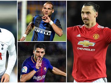 Berikut ini lima pemain jebolan Ajax Amsterdam yang berkelas dunia. Diantaranya, Wesley Sneijder, Zlatan Ibrahimovic dan Luis Suarez. (Foto Kolase AP dan AFP)