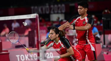 Foto: Mendebarkan, Praveen Jordan/Melati Daeva Oktavianti Menang Susah Payah atas Pasangan Australia di Olimpiade Tokyo 2020