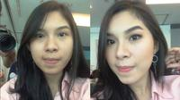 Foto before-after peserta Lifestyle Meetup Liputan6.com #SelfieReadyMakeup bersama LT Pro (Foto: instagram @nerissavrp)