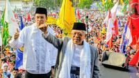 Kampanye terbuka cawapres Ma'ruf Amin dan mantan Gubernur NTB Tuan Guru Bajang (TGB) Muhammad Zainul Majdi di Lapangan Nasional Selong, Lombok Timur, NTB, Selasa (2/4/2019). (Liputan6.com/Putu Merta Surya Putra)