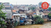 Ini adalah ilustrasi kawasan kumuh di Indonesia.