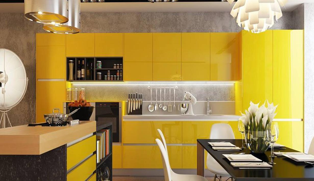 Inspirasi Dapur Nuansa Kuning Keren Dan Elegan Fashion Fimela Com