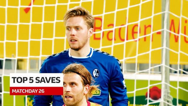 Berita Video 5 Saves Terbaik Bundesliga Pekan 26, Lihat Aksi Kiper Eintracht-Frankfrut, Kevin Trapp