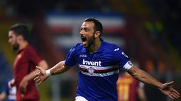 1. Fabio Quagliarella (Sampdoria) - 21 gol dan 7 assist (AFP/Marco Bertorello)