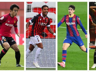 Foto kolase sejumlah pemain muda klub besar yang dipinjamkan ke klub lain. (Foto: AFP)