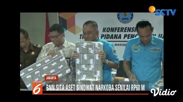 Penyitaan aset puluhan miliar ini merupakan hasil pengembangan dari 20 kasus sindikat narkoba di sejumlah wilayah di Indonesia.