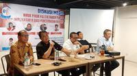 Basarah menjadi nara sumber dalam Diskusi bertema Hiruk Pikuk Politik Pasca Pemilu: Implikasinya bagi Kecerdasan Rakyat.