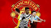 Manchester United - Pau Torres, Jadon Sancho, Declan Rice (Bola.com/Adreanus Titus)