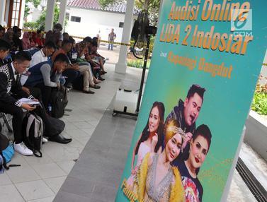 Antusiasme Peserta Ikuti Audisi Liga Dangdut di Semarang