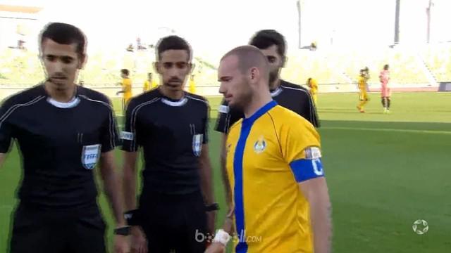 Berita video aksi Wesley Sneijder pada laga perdananya bersama AL Gharafa di Liga Qatar. This video presented by BallBall.