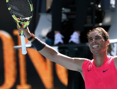 Kalahkan Hugo Dellien, Rafael Nadal Melaju ke Putaran Kedua Australia Terbuka